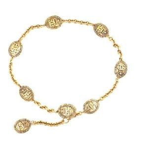 CHANEL Jewelry - Cc Long Medallion Chain Belt Two Way Necklace